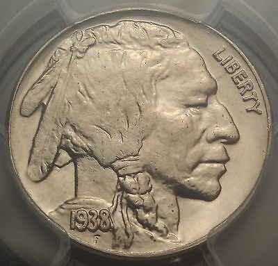 PCGS MS65 1938-D Buffalo Nickel Great 5c Type Coin 2