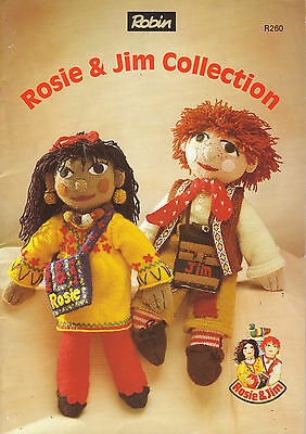 Original Rosie & Jim Dolls Knitting Pattern Duck Boat Dolls Clothes Collection