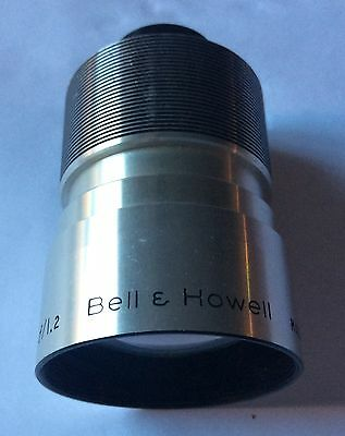 Vintage Bell & Howell Chrome 16mm 2 Inch F/1.2 Projection Lens