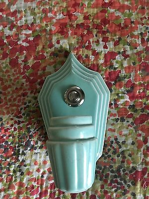 RARE Vintage Efcolite Porcelain Wall Sconce Light lamp Fixture Art Deco Style