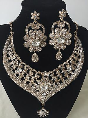 Indian Bollywood Costume Gold Plated Necklace Bridal Wedding Fashion Jewellery