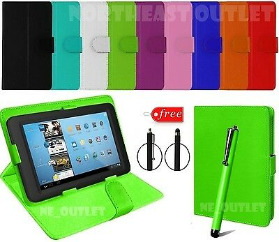 """Leather Cover Case For 7"""" Inch Acer iConia One 7 B1-750, B1-760, B1-750 / 760-HD"""