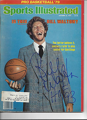 Bill Walton San Diego Clippers Signed Sports Illustrated COA