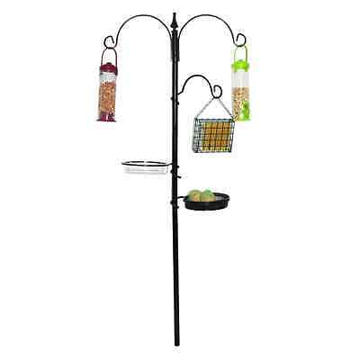 New Kingfisher Black Metal Garden Wild Traditional Feeding Station Bird Care