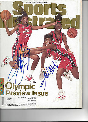 1996 US Women's Olympic Basketball Sheryl Swoopes Signed Sports Illustrated COA