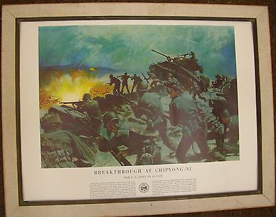 """Posters Vintage Army Posters 12 Size 20"""" By 21"""" Price Reduced 50% Originals"""