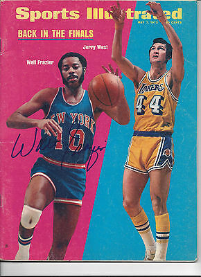 Walt Frazier New York Knicks Signed Sports Illustrated COA