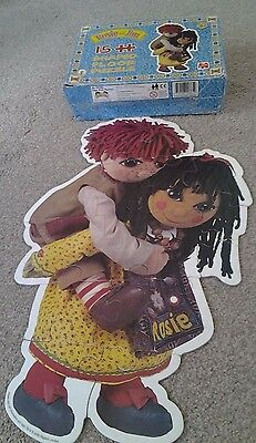 Rare Vintage Rosie and Jim 15 Piece Shaped Floor Jigsaw Puzzle Year 2000
