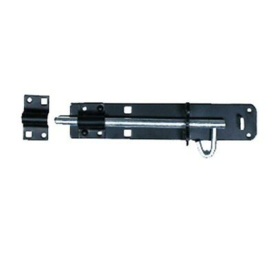 Black Wrought Iron Slide Door Bolt 10 | Renovators Supply