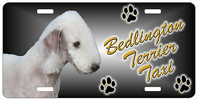 Bedlington Terrier 2  Taxi Line License Plate (( SPECIAL LOW CLEARANCE PRICE ))