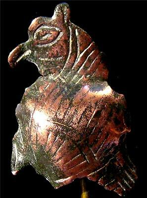 Ancient Roman Bronze Owl Applique