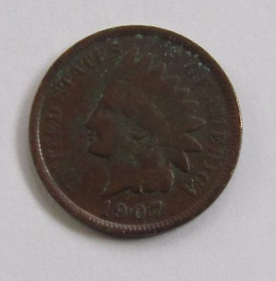 1907 1C BN Indian Cent - FREE DOMESTIC SHIPPING