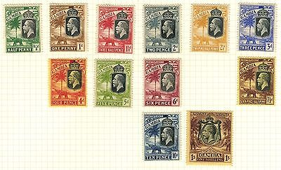 Gambia Stamp Collection On Loose Album Page (Ref: C421)