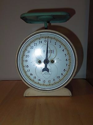 Vintage Antique Way Rite Kitchen Scale Decor 25 Lbs - Used/GC
