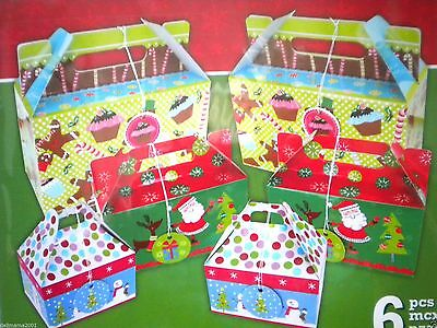 6 PCS. CHRISTMAS HOLIDAY BAKED GOODS GIFT BOX KIT with GIFT TAGS