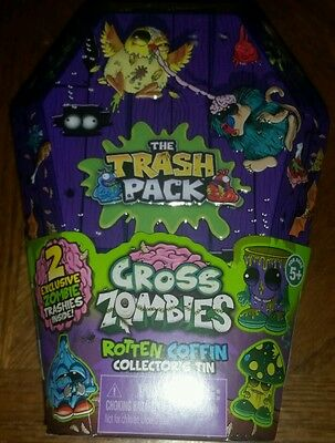 Trash Pack Rotten Coffin collector's tin factory sealed mint