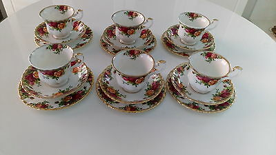 Royal Albert Old Country Roses Tea Cups and Saucers.