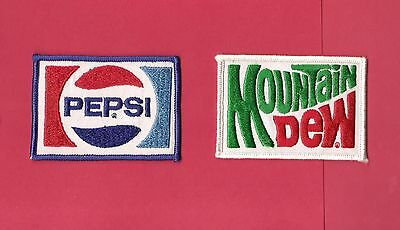 Pepsi + Moutain Dew Patch Lot (2)  Free Shipping