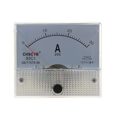 85C1 Analog Current Panel Meter DC 30A AMP Ammeter HP
