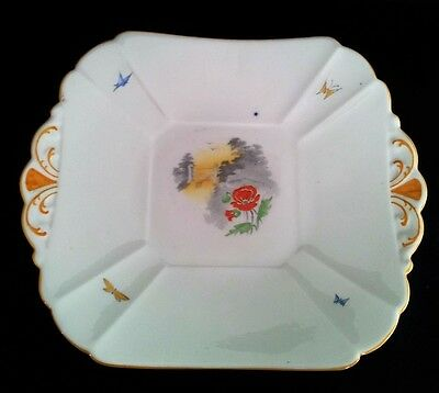 "Shelley  Queen Anne Cake Plate "" Poppy And Stile"" #2162 C1925-40"