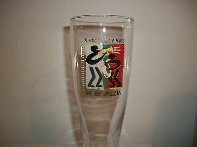 French Quarter-'' We Be Jazzin''- New Orleans- Beer Glass