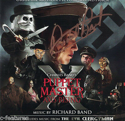 PUPPET MASTER X / EVIL CLERGYMAN Richard Band AUTOGRAPHED Signed CD LA-LA LAND