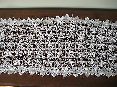 Vintage Schiffli Chemical Lace runner 50""
