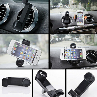 Car SUV Black Phone 360 Rotating Air Vent Mount Holder Cradle Stand for iPhone 6