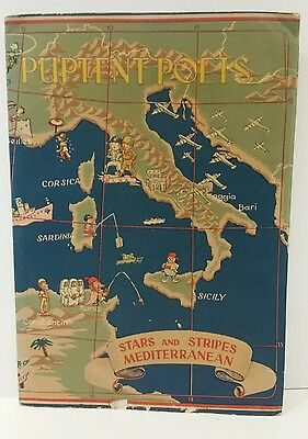 1945 Italy PUPTENT POETS Stars and Stripes Mediterranean Hogan Walsh 1st edition