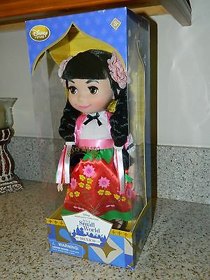 Disney Store It's a Small World Singing Doll Mexico NEW