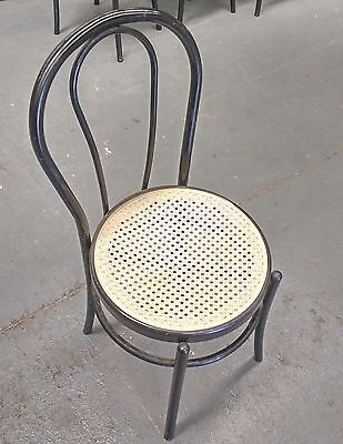 Used Black Color Stackable Plastic  Restaurant Chair
