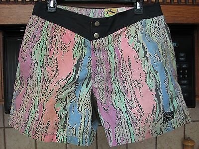 Rusty surf board shorts vintage 1980s 1990s short length wild color just surfing