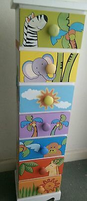 Children's Drawers with Colorful Jungle Animal design