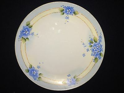 Vintage  Nippon Hand Painted Japan Blue Flower Plate (CHINA)