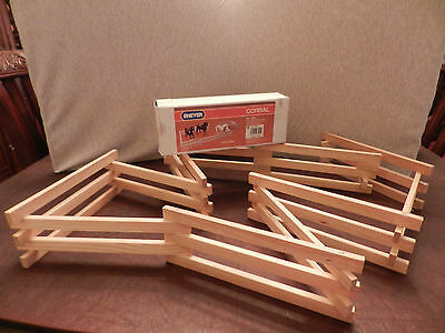 Breyer Corral Natural Wood #7500 8' Of Fencing MINT CONDITION