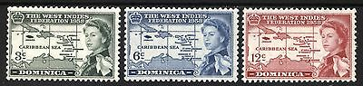 [BOM0901]  Dominica 1958 West Indies Federation Issue  MNH