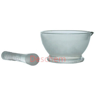 75mm,Glass Mortar and Pestle,New Adcance Lab Chemistry Glassware