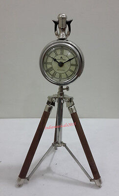 Vintage Nautical 49 Bond Street London Table Clock On Tripod