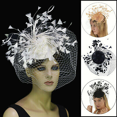 Spring Racing Race Party Melbourne Cup Feather Headband Hairband Clip Fascinator