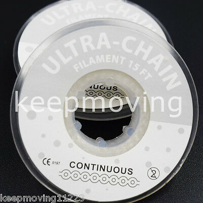 1 Roll Dental Orthodontic Elastolink Chain Clear Continuous Closed Power Chain