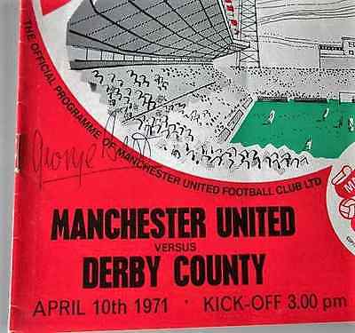 Hand Signed Programmes By Manchester United Ledgends