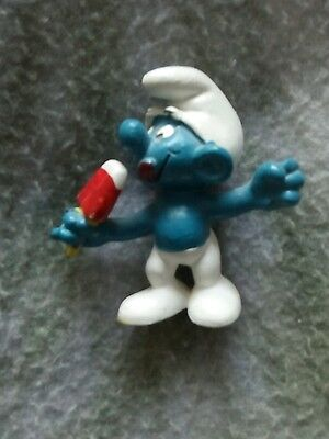 Vintage Smurf Ice Jolly Red Lolly 20053 Peyo W Germany