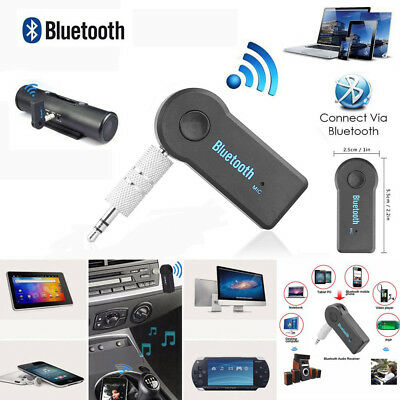 Handsfree Wireless Bluetooth Stereo Audio Receiver To AUX Adapter Car Kit 3.5mm