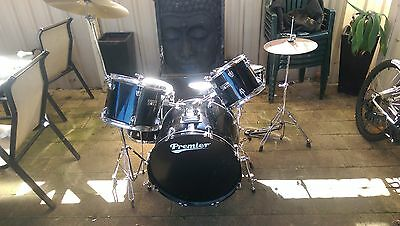 black premier olympic series drum kit