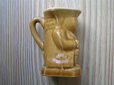 "A Vintage New Devon Ware ""sunglow"" Miniature Toby Jug: 2.25"" Tall: Vg Condition"
