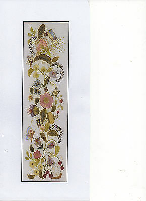 A crewel embroidery kit from the Needlewoman Studio-'Elizabethan Flora'