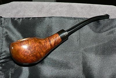 Butz Choquin' Fasset' Vintage French Briar Tobacco Pipe & Pouch. Used. Good Cond