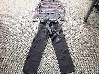 girls designer top and trousers age 8