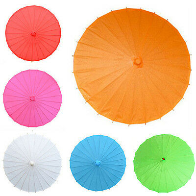 Bamboo Polyester Paper Umbrella Parasol Dancing Wedding Bridal Party Coasplay MG