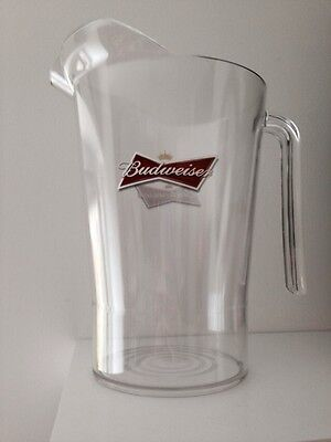Budweiser Beer Plastic Pitcher Jug Brand New